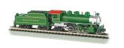 Bachmann Industries Prairie 2-6-2 Locomotive and Tender Southern Train Car, Green, N Scale