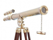 Handcrafted Nautical Decor Floor Standing Brass Griffith Astro Telescope, 160cm , Brass