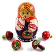 13cm Anastasiya with Mushrooms Russian Nesting Dolls