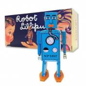 Vintage Style 16cm Blue Tin Robot Lilliput