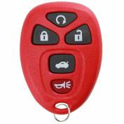 KeylessOption Red Replacement 5 Button Keyless Entry Remote Control Key Fob Compatible with 22733524