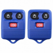 2 KeylessOption Blue Replacement 3 Button Keyless Entry Remote Control Key Fob Clicker
