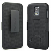 Encased SoftTouch Case & Belt Clip Holster for Samsung Galaxy S5 with Kickstand (Compatible on all networks)