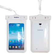 DandyCase Waterproof Case for Samsung Galaxy S5, Samsung Note 3 / 2, Samsung Galaxy MEGA, HTC One M8 (2014), HTC One Max, LG G2, Nokia Lumia 1520, Motorola Droid Ultra - Also fits other Large Smartphones up to 16cm screen size - IPX8 Certified to 100 F ..