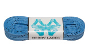 Sky Blue 270cm Waxed Skate Lace - Derby Laces for Roller Derby, Hockey and Ice Skates, and Boots