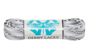 Smoke 150cm Waxed Skate Lace - Derby Laces for Roller Derby, Hockey and Ice Skates, and Boots