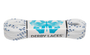White 150cm Waxed Skate Lace - Derby Laces for Roller Derby, Hockey and Ice Skates, and Boots
