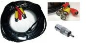 Acelevel Premium Quality 18m Video Power BNC RCA Cable for Defender CCTV Security Cameras
