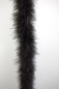 Marabou Feather Boa 2 Yards Long (180cm ) 22 Grammes - MIDNIGHT BLACK