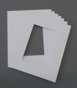 Pack of 5 11x14 Cream Picture Mats Bevel Cut for 8x12 Pictures