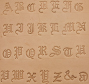 1.9cm Old English Alphabet Stamp Set