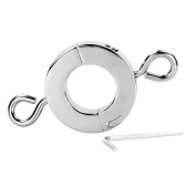 Metal Cock Ring Shaft Ball Weight Stretcher Ball Hanger BDSM CBT Sex Toy Collection For Male
