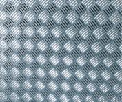 d-c-fix® Like-Contact (self adhesive vinyl film) Metallic Chequered Plate High Gloss Silver 67.5cm x 1.5m 340-8007