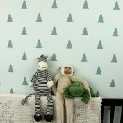 NEW! - Fir Trees Wall Pattern Stencil - Beautiful Stencils for DIY Home Decor