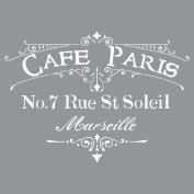Deco Art Americana Decor Stencil, Cafe Paris