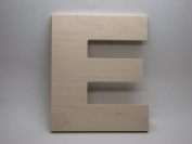 LetterWorx 20cm Wooden Letter E - Arial Font | Unfinished Baltic Birch Wood | 20cm Tall