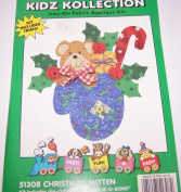Holiday Dimensional Kidz Kollection Iron On Fabric Applique Kit Christmas Mitten