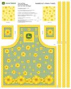 John Deere Sunflowers Butcher Block Apron Panel Fabric Kit, Yellow