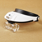 Lycheers Headband Headset Head LED Lamp Light Jeweller Magnifier Magnifying Glass Loupe