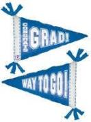 Graduation Balloon - Blue 80cm Mylar Grad Pennant