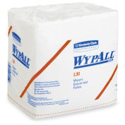 Kimberly-Clark Professional Wypall L30 Wipers - 33cm Length X 30cm - 1.3cm Width, White, 90 Wipers