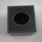 KINGFOM™ Square PU Leather Roll Tissue Napkin Toliet Paper Box Case Canister Dispenser Home Decoration