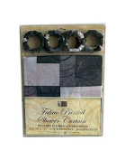 Chequered fabric shower curtain