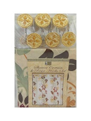 gold and ivory circles Fabric shower curtain set