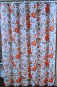 Colourful flowers designfabric printed shower