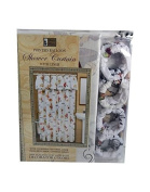 Ladies design shower curtain with liner