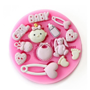 Baking Moulds DIY FOOT BABY RABBIT Silicone Mould Fondant Moulds Sugar Craft Tools Chocolate Mould For Cakes