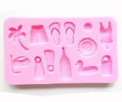 Happy Hour on the Beach Silicone Cake Mould Chocolate Mould Fondant Pudding Moulds, Coconut, Glasses
