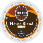 Keurig, Tully's House Blend Decaf, Medium Roast Coffee Extra Bold 24 K-Cup Single Serve Packs
