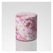Matcha Tea Can : Chiyogami Washi Paper - 2 colour (Pink,Blue) tins caddy canister [Standard ship by SAL