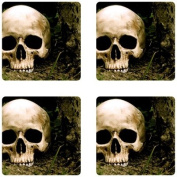 Skull Rubber Square Coaster set (4 pack) Great Gift Idea