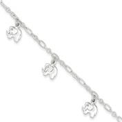 Sterling Silver Polished Elephant Bracelet