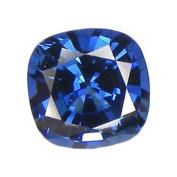 Blue Cushion Sapphire Facet Unset Loose Gemstone 9mm Lab