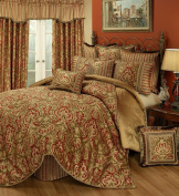 Austin Horn Classics Botticelli 4-Piece Bedding Collection, King, Rust