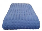 Cosy Bed - Santa Barbara Waffle Weave Blanket, King, Blue