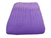 Cosy Bed - Santa Barbara Waffle Weave Blanket, Full/Queen, Purple