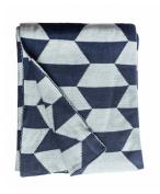 Fab Habitat Faros Knit Throw, Blue
