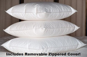 High Quality-White Goose Feather and Goose Down Pillows w/Zippered Cover-Exclusively by Blowout Bedding RN# 142035 - Standard