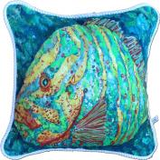My Island Decorative Pillows, Striped Grouper