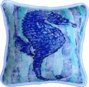 My Island Decorative Pillows, Blue Seahorse