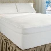 DreamFit 4-Degree Dream Cool Performance Fabric Mattress Protector, King, White