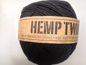 Black Hemp Twine Cord 1mm 143yd 130m 430ft DIY