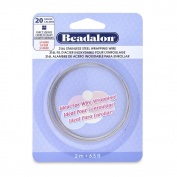 Beadalon Square Silver Plated 20-Gauge Fancy Wire, 2-Metres