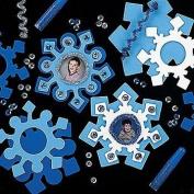 12 Foam Snowflake Photo Frame Magnet Craft Kits