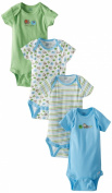Gerber Baby-Boys Infant 4 Pack Variety Onesies Brand - Elephant