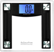 "BalanceFrom High Accuracy Digital Bathroom Scale with 11cm Extra Large Cool Blue Backlight Display and ""Smart Step-On"" Technology [NEWEST VERSION]"
